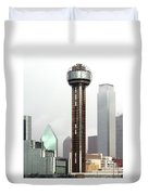 Lifting Fog On Dallas Texas Duvet Cover