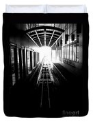 Light At The End Of The Tunnel. Duvet Cover