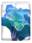 Light Blue Iris Duvet Cover