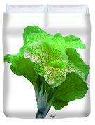 Light Green Iris Duvet Cover
