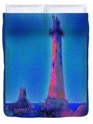 Light House At Sunset 1 Duvet Cover