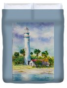 Light House At The Beach Duvet Cover