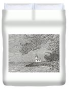Light House On San Juan Island Lime Point Lighthouse Duvet Cover
