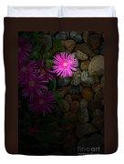Light In The Rock Garden Duvet Cover