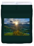 Light In The Valley Duvet Cover