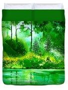 Light N Greens R Duvet Cover