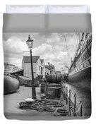 Light Of The Dock Duvet Cover