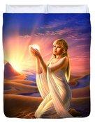 Light Of The Sands Duvet Cover
