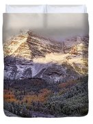 Light On Maroon Bells Duvet Cover