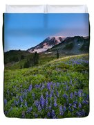 Light On The Mountain Duvet Cover