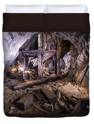 Light Painting In A Gold Mine 2 Duvet Cover