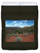 Light Shines On Cathedral Rock Duvet Cover