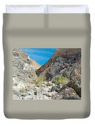Light Side And Dark Side In Big Painted Canyon In Mecca Hills-ca Duvet Cover
