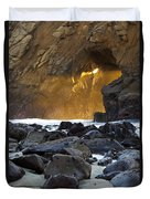 Light Through The Keyhole Arch Duvet Cover