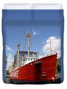 Light Vessel Baltimore Harbor Duvet Cover