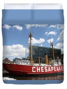 Light Vessel Chesapeake - Baltimore Harbor Duvet Cover
