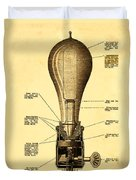 Lightbulb Patent Duvet Cover
