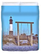 Lighthouse And Swing Duvet Cover