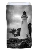 Lighthouse At Marblehead Duvet Cover