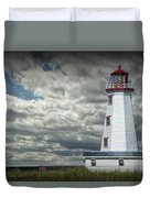 Lighthouse At North Cape On Prince Edward Island Duvet Cover