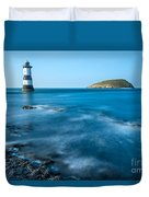 Lighthouse At Penmon Point Duvet Cover