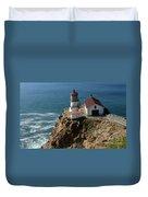 Lighthouse At Point Reyes Duvet Cover