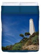 Lighthouse At Saint-jean-cap-ferrat France French Riviera Duvet Cover