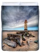 Lighthouse At Talacre  Duvet Cover by Adrian Evans