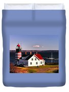 Lighthouse At West Quoddy Head Duvet Cover