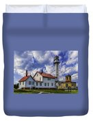Lighthouse At Whitefish Point Duvet Cover