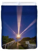 Lighthouse Beams By The Southern Cross Duvet Cover