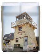 Lighthouse Cafe In North Rustico Duvet Cover
