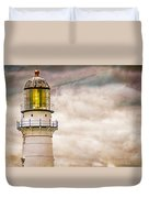 Lighthouse Cape Elizabeth Maine Duvet Cover