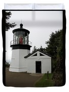 Lighthouse Cape Meares Duvet Cover