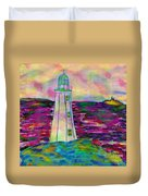 Lighthouse Digital Color Duvet Cover