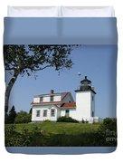 Lighthouse Fort Point Duvet Cover