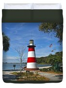 Lighthouse In Mount Dora Duvet Cover