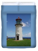 Lighthouse In Paradise Duvet Cover