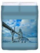 Lighthouse In Saint Joseph Michigan Duvet Cover
