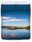 Lighthouse Near Oban In Scotland Duvet Cover