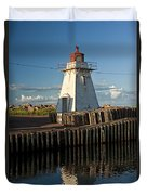 Lighthouse On A Channel By Cascumpec Bay On Prince Edward Island No. 095 Duvet Cover