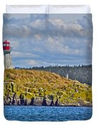 Lighthouse On Brier Island In Digby Neck-ns Duvet Cover