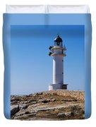 Lighthouse On Cap De Barbaria On Formentera Duvet Cover
