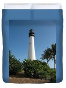 Lighthouse On Key Biscayne Duvet Cover
