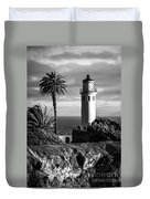 Lighthouse On The Bluff Duvet Cover