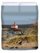 Lighthouse Over The Dunes Duvet Cover