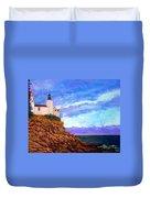 Lighthouse Overlook Duvet Cover