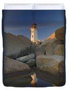 Lighthouse, Peggys Cove, Nova Scotia Duvet Cover