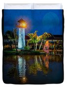 Lighthouse Reflection Duvet Cover by Adrian Evans