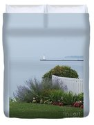 Lighthouse Sodus Bay New York Duvet Cover